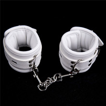 2017 Bondage Restraints White Pu Leather Sponge Hand Cuffs  or Ankle Cuffs Sex Products Toys For Couple Adult Games For Women