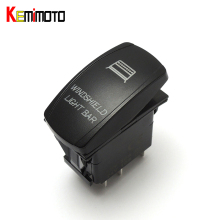 KEMiMOTO For Polaris RZR 1000 900 General for Can Am Buggy RED Backlit Rocker Winshield Switch for Polaris Rangers(China)