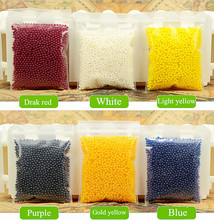 3600 pcs/lot 12 colors 12 Packets/set Crystal Ball Sea Baby Crystal Mud Soil Water Beads Bio Gel Ball For Flower/Weeding/Decor(China)