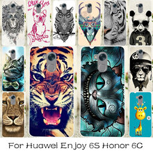 TAOYUNXI Silicone Plastic Phone Case For Huawei Enjoy 6S Honor 6C NOVA Smart Honor6C Bag Shell  Cover Cat Tiger Animal Cases