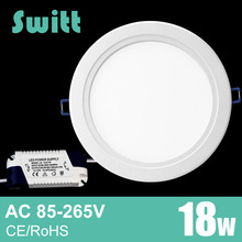 Switt Ultra Thin Led Panel Downlight 3w 4w 6w 9w 12w 15w 18w LED Ceiling Recessed Light AC85-265V LED Panel Light SMD2835(China)