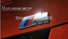 NEW M power Series Logo Sticker Emblem Badge Chrom 1 3 4 5 6 7 E Z X M3 M5 M6 Mline for BMW M Car Styling(China)