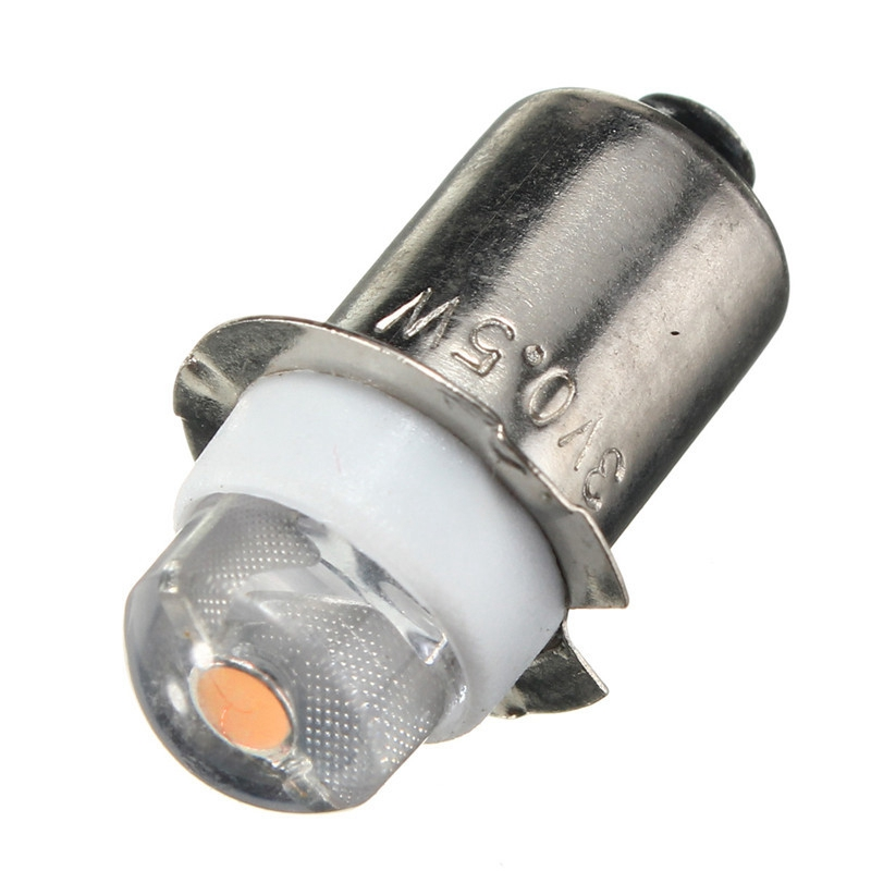 P13.5S PR2 0.5W LED For Focus Flashlight Replacement Bulb Torches Work Light Lamp 60-100Lumen Pure/Warm White DC 3V 4.5V 6V(China)