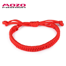 New Arrival Fashion Unisex Jewelry Double Layer Red String Handmade Braided Rope Men Women Hand Strap Charm Bracelet MHS005(China)