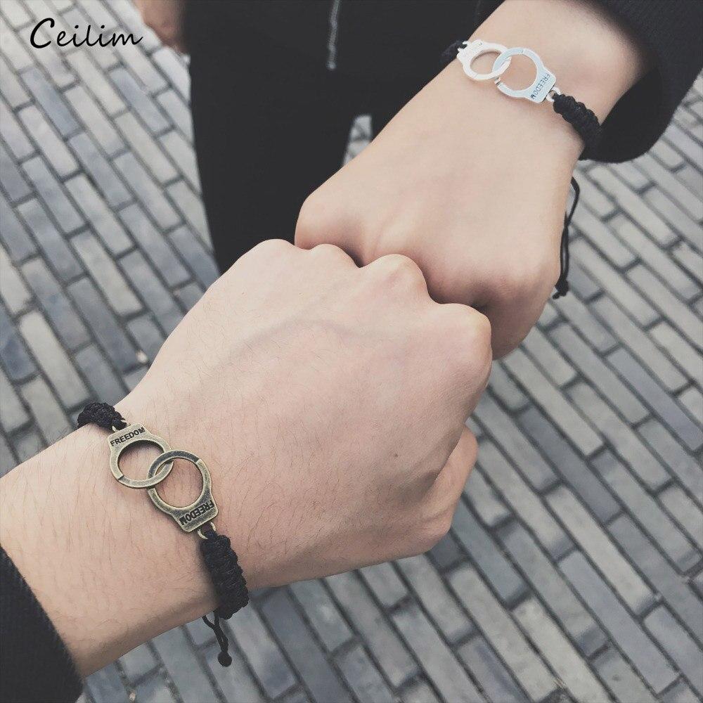 MEN WOMEN Stainless Steel Classic Silver Round Cuff Adjustable Handcuff//Bracelet
