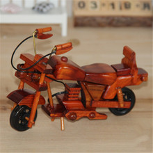 Creative Retro Handmade Wooden Motorcycle Model Children Toy Car Gift Home Decor Random Color