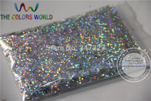1.0MM Laser Silver Color Glitter Powder,holographic Glitter for nail gel or Other Decoration(China)