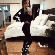 2 piece set women suit crop top legging crop hoodie set female winter sweatshirt pants outfit track suit two piece set HS0711