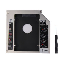 "New Universal 12.7mm PATA IDE to SATA 2nd HDD Caddy Adapter Enclosure Hard Drive Bay for 2.5"" SATA HDD Hard Drive/CD-ROM"