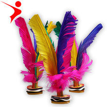 4 PCS Kick Feather Shuttlecocks Badminton Big Size 22CM Original China Jianzi Free Shipping