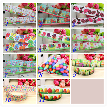 7/8'' Free shipping easter rabbit egg printed grosgrain ribbon hairbow headwear party decoration diy wholesale OEM 22mm S232
