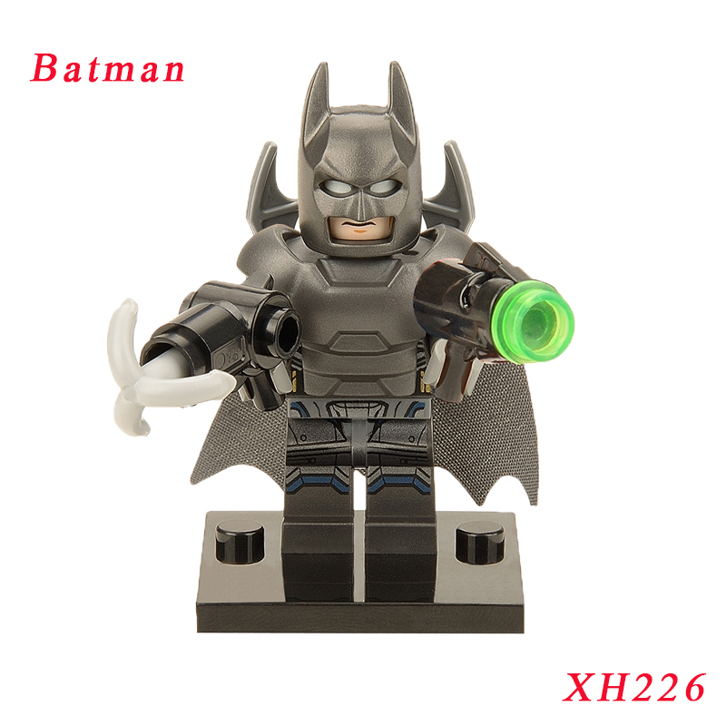 Batman Mini Dolls Single Sale Super Heroes Spiderman Hulk Justice League Models Building Blocks Toy Children xh226 pogo