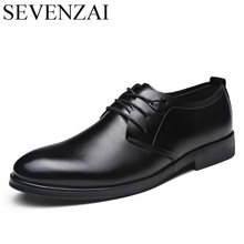 new cool designer men dress leather shoes luxury brand elegant italian formal footwear male classical derby oxford shoes for men(China)