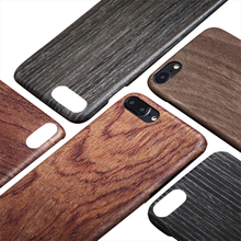 Showkoo Cool Natural Wooden Cushion Protective Bumper Case for iPhone 7 Plus 7 Slip Wood Case For iPhone 8 8 Plus Case Wholesale(China)