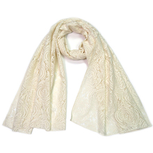 Winter Scarf For Women White Lace Flower Pashmina Wrap 180*70cm Long Lady Echarpe Chales Female Russian Shawl Scarf