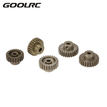 GOOLRC M0.6 3.175mm 23T 24T 25T 26T 27T 0.6 Module Pinion Motor Gear for 1/8 1/10 RC Buggy Monster Truck Brushed Brushless Motor(China)