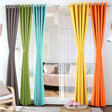 1PCS Home Fashion Window Treatment Thermal Insulated Solid Grommet Blackout Curtains Panel Modern Drapes for Bedroom.