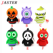 JASTER horrific ghost USB Flash Drive Pen drive cartoon U disk memory stick pendrive 8GB 16GB 32GB cool Halloween gifts
