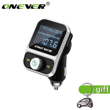 Onever FM Transmitter Wireless Bluetooth FM Modulator Handsfree Car Kit LCD Radio Audio Car MP3 Player 3.5mm AUX Adatper FLAC