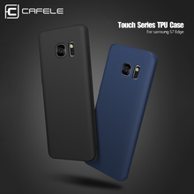 CAFELE Soft TPU Ultra Thin Case For Samsung Galaxy S7 Edge Foldable Silicone Case For Samsung Galaxy S7 Shockproof Back Cover(China)