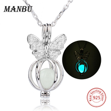 Buy 2017 Luminous Necklace&Pendant Chain Choker 925 Sterling Silver Fluorescence&Crystal Butterfly Necklace Women Jewelry Colar for $18.94 in AliExpress store