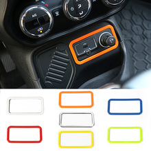 For Jeep Renegade 2015 up Cigar Lighter Decoration Frame Trim 7 Colors ABS Car Accessories