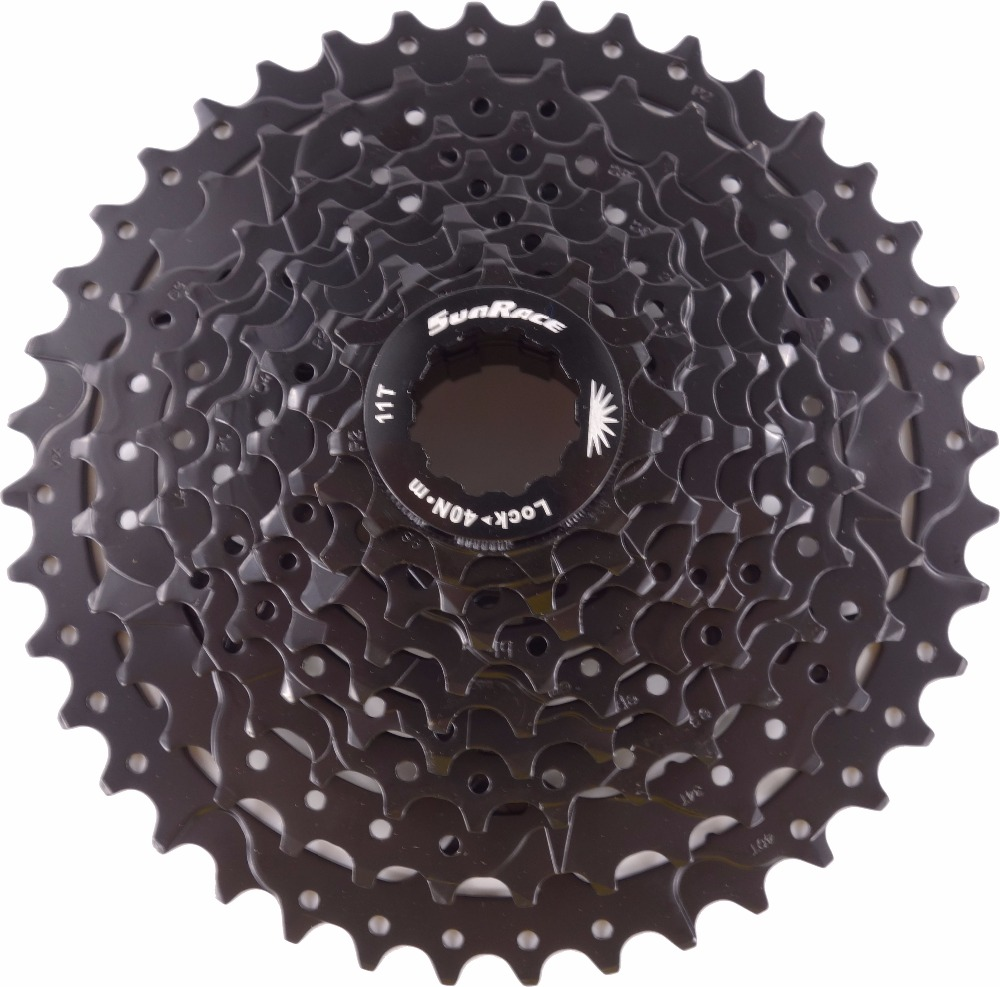 Sunrace 9-speed cassette 11-40T CSM990 Wide ratio in Black<br>