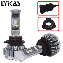 1Pair HIR2 9012 Led Auto Headlight Car Lamps Bulb Lihgt Car Led Headlight Kit Fog Light 7600LM 72W With Philip Led Chip 6000K(China)
