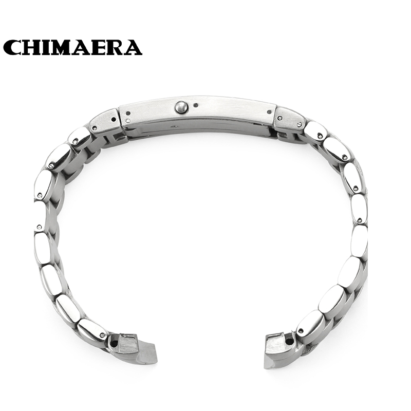 20mm Watchband Stainless Steel Curved End Brushed Watch Belt Bracelet For Omega Free Shipping<br>