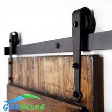 4.9FT/6FT/6.6FT Carbon steel interior wood barn sliding door fittings(China)