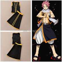 Fairy Tail mage Naz Dora Gonul COS clothing Suit Sorcerer Natsu Dragnee Unisex Cosplay Costume&Props emboitement ( top + skirt )