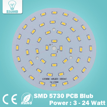3W 5W 7W 9W 12W 15W 18W 20W 24W 5630/ 5730 Brightness SMD Light Board Led Lamp Panel For Ceiling PCB With LED free shipping