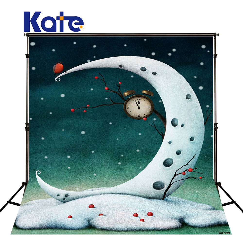 Kate Newborn Photography Background Moon Ship Birthday Photography backdrops Children Backdrop Seamless Cartoon Photo For Studio<br>