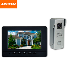 7 Inch LCD Monitor Wired video Doorbell intercom System Video Door Phone Aluminium alloy Camera Video Intercom doorphone Kit