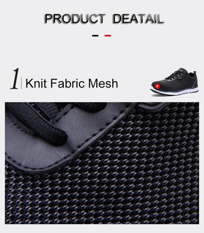 MODYF Men Safety Steel Toe Work Shoes Lightweight Breathable Casual Footwear 10