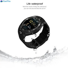 Eastvita Round Touch Screen Bluetooth Smart Watch with Heart Rate Pedometer Sleep Monitor Remote Sync for Android Smartphones(China)
