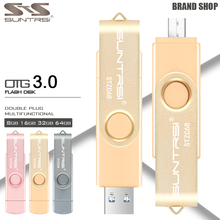 Suntrsi USB Flash Drive OTG USB 3.0 External Storage Pendrive 16GB 32GB USB Stick High Speed Pen Drive for Android USB Flash(China)