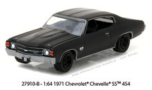 Green Light 1:64 1971 Chevrolet Chevelle SS 454 boutique alloy car toys for children kids toys Model original box