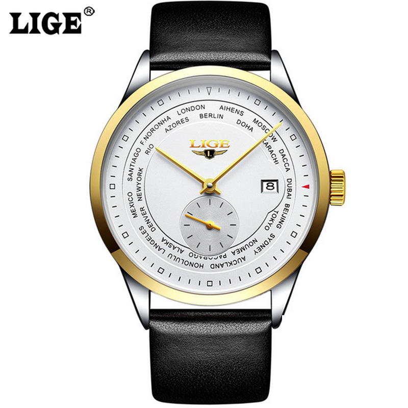 LIGE Watches Men High Quality Tourbillon Automatic Mechanical Watches Mens Simple Classic Business Steel Wristwatch<br>