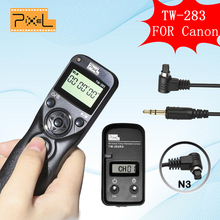 Pixel TW-283 N3 TW283 Wireless LCD Timer Remote Control Shutter Release For Canon 5D3 5D2 5D 7D 6D 50D 40D 30D 20D 10D 1D 1DX