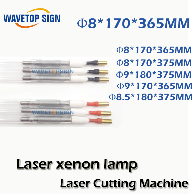 Laser xenon lamp 8*170*365  with soft wire  Can be customized laser cutting machine sue <br>