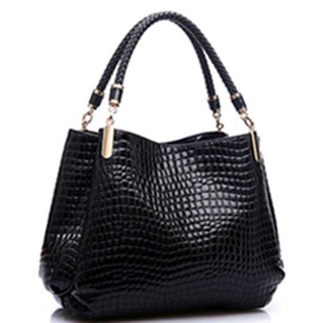 Hotselling 2016 New Fashion Brand Leather Women Bags Shoulder Bag Female Tote Crocodile Bag<br><br>Aliexpress