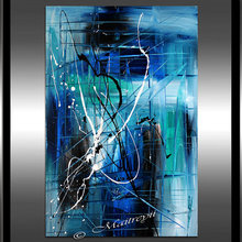 Blue Painting, Modern Wall Decor, Art Abstract, Oil Painting On Canvas, Blue Abstrac living room decoration handpainted
