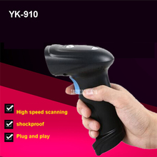 50pcs Barcode Scanner 1D Laser Wireless YK-910 Barcode Scanner with USB2.0 Interface 120 Volts / Second Speed Without Driver(China)
