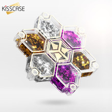 KISSCASE Fingertip Gyro Sticker For iPhone 7 6 6s 5S SE Plus Stand Holder Plastic Relieve Stree Cube Tri-Spinner Hand Spinner