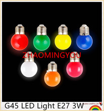 ZHAO E27 LED light bulbs 3W AC220V LED multicolor lights indoor and outdoor decorative lighting energy saving lamps Colorful(China)