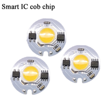 ED COB Chip 5W 7W 3W 9W AC 220V 220V No need driver Smart IC bulb lamp For DIY LED Floodlight Spotlight(China)