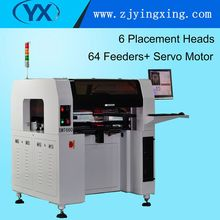 PCB/SMT/LED 6 Heads SMT660 Conveyor +64 Feeders N Rail Desktop Pick and Place Machine Manufacturer