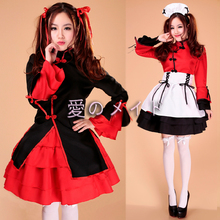 New Fashion Chinese Style Lolita Dress Anime Cosplay Costume Maid Costumes for Women Halloween Party Club Ball Gown