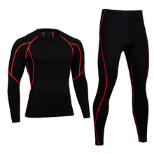 Men Pro Compression Long Johns Fitness Winter Thermal Underwear Sets Quick Dry Gymming Male Spring Autumn Sporting Runs Yogaing(China)